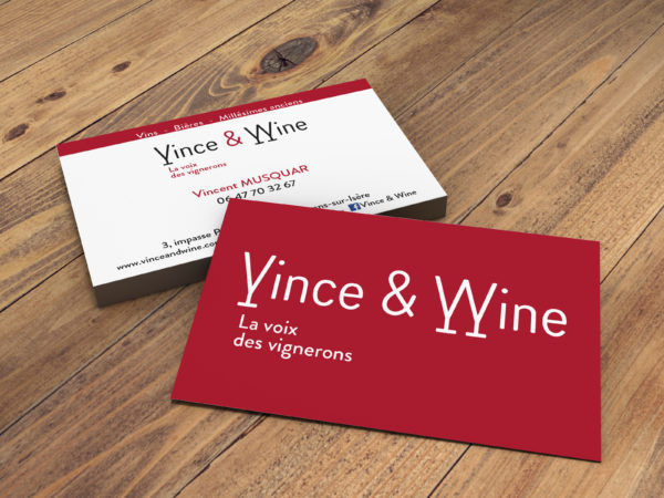 logo vince and wine